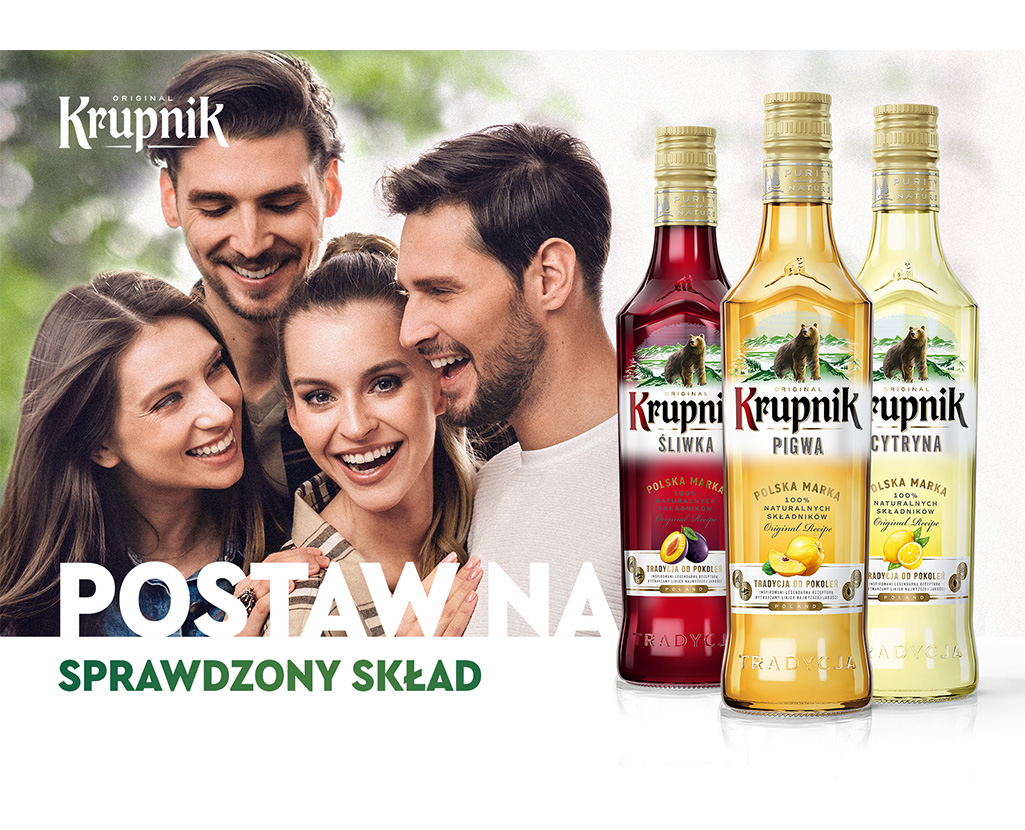 New design of Krupnik vodka